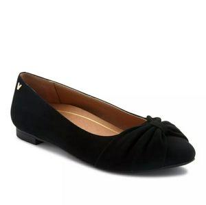 Vionic Gramercy Black Ballet Flats Shoes New Suede
